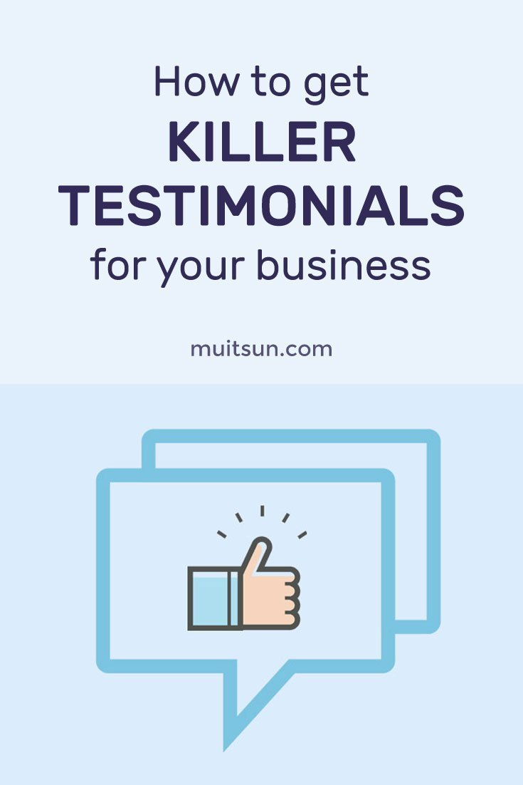 Learn how to get killer client testimonials for your business using this easy-to-follow system. Download my free checklist and email templates.