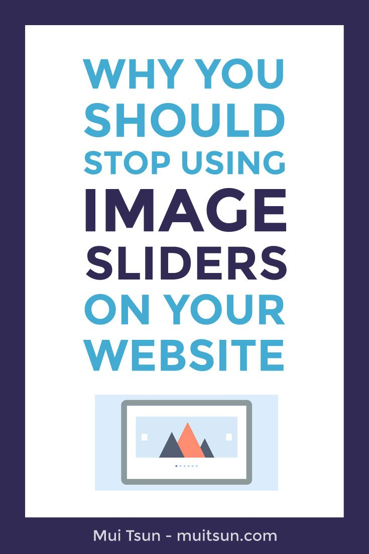 Why you should stop using image sliders on your website and what you should do instead.