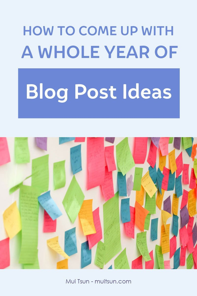Need ideas for your next blog posts? Use this framework to come up with a whole year of blog post ideas. You'll never stare at a blank screen again. #bloggingtip #blogpostideas #contentcalendar #editorialcalendar