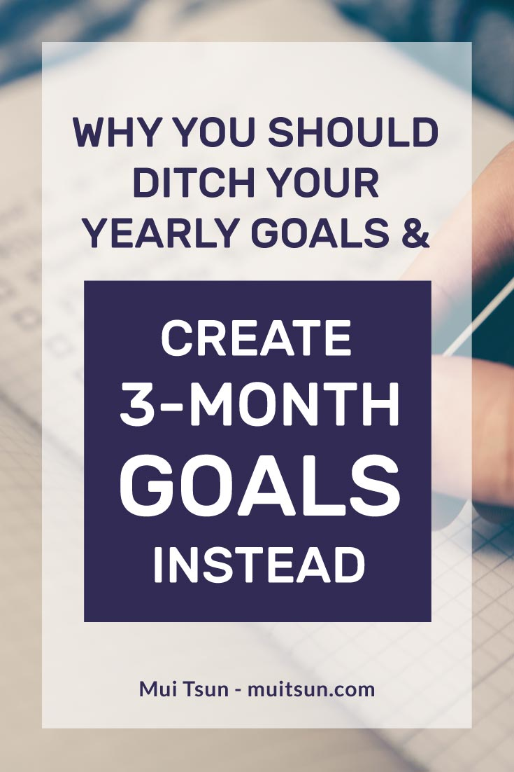 Why yearly goals are ineffective and how to set 3-month goals and plan out the actionable steps to achieve them.