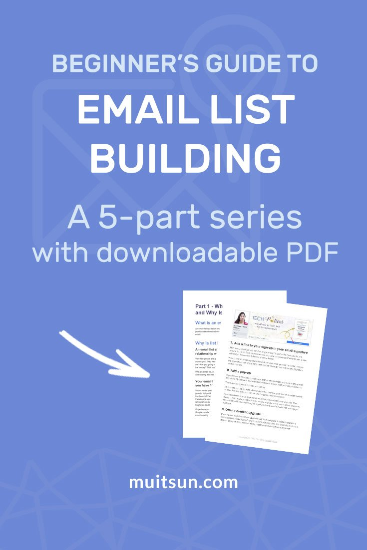 Building an email list is crucial because it's the best way to build a relationship with potential customers in an intimate way. Here's how...