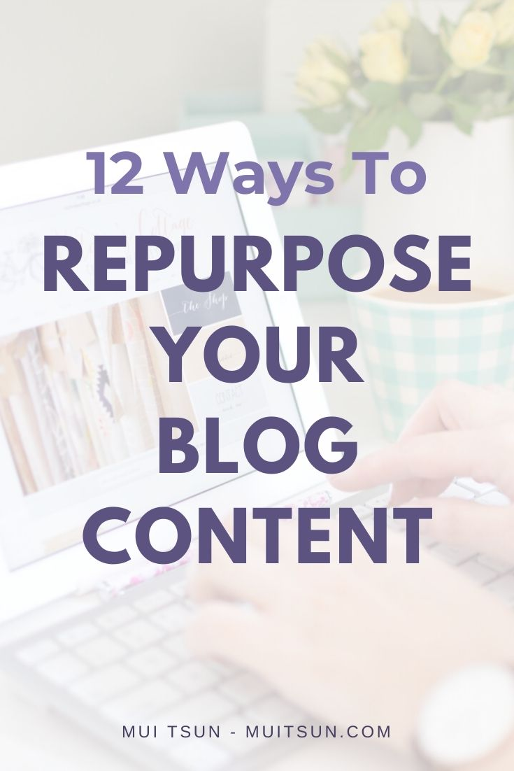 Find out how to repurpose your blog content and easily create 12 additional pieces of assets from every blog post you create.