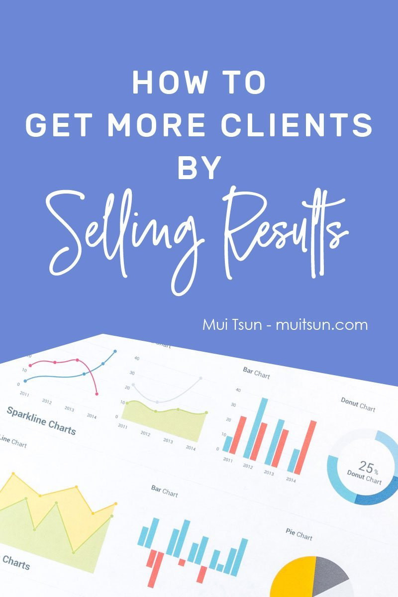 What results are you actually selling? If you want more clients, you have to stop boring potential clients with vague generic concepts. You have to answer this one question: What's in it for me? #onlinemarketing #marketingtip #getresults