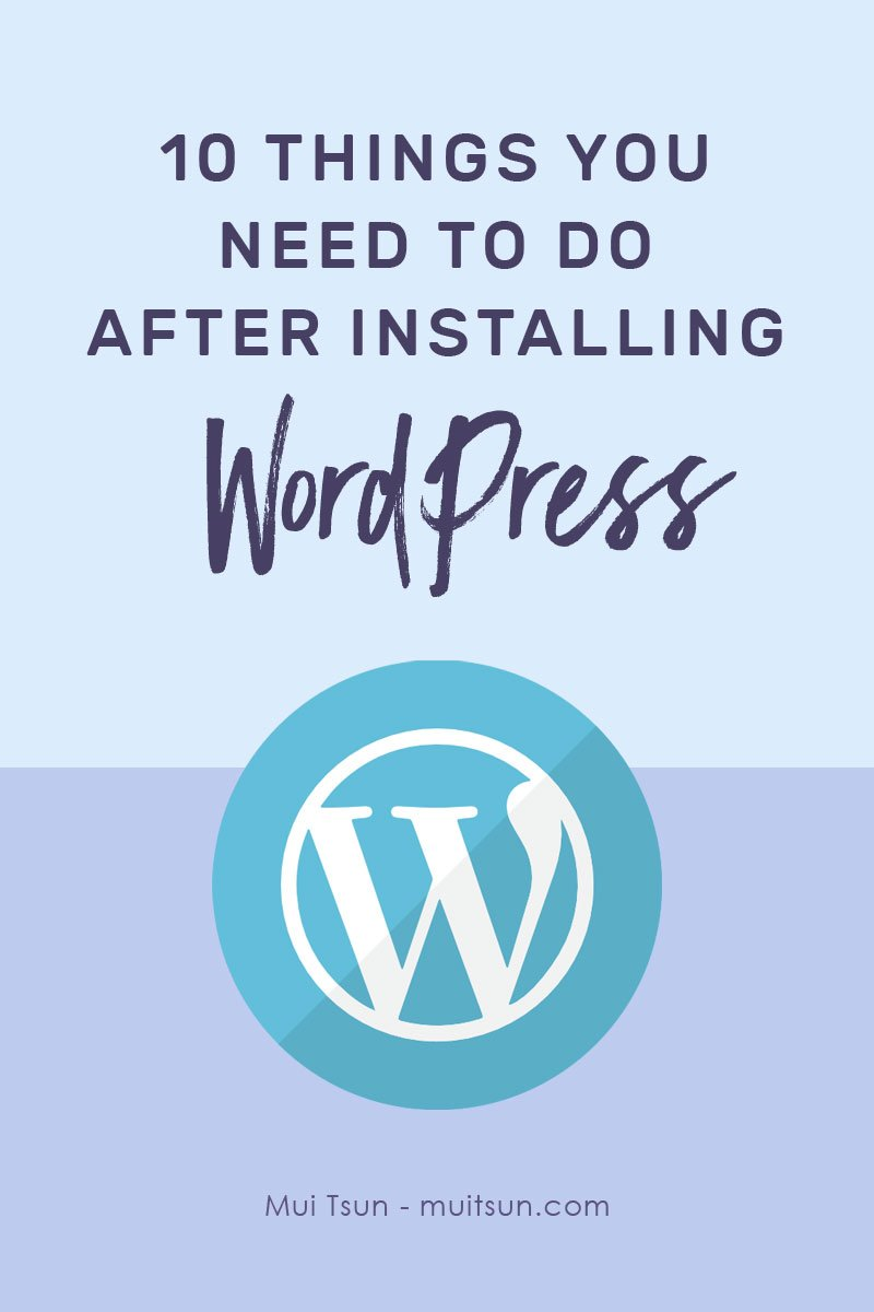 You've installed WordPress. Now what? Before you install a new theme or start creating content, it's worth taking some time to change some of the default settings and to optimise your site.