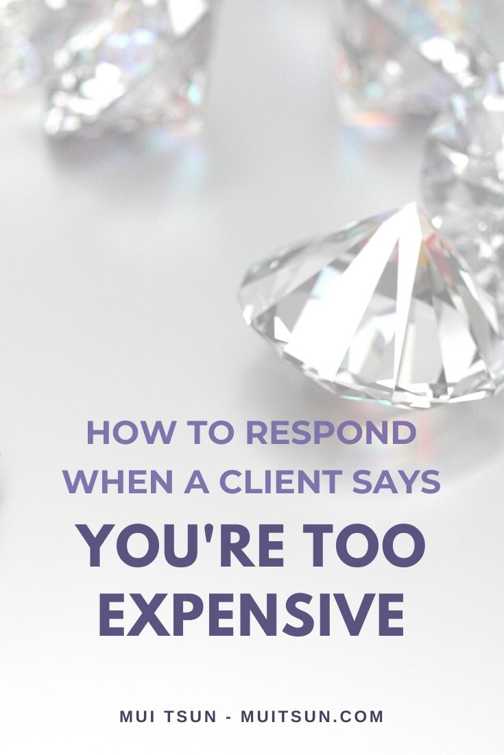 Potential clients telling you you're too expensive? Here are some common reasons people don't want to pay your prices right now and how you can respond positively.