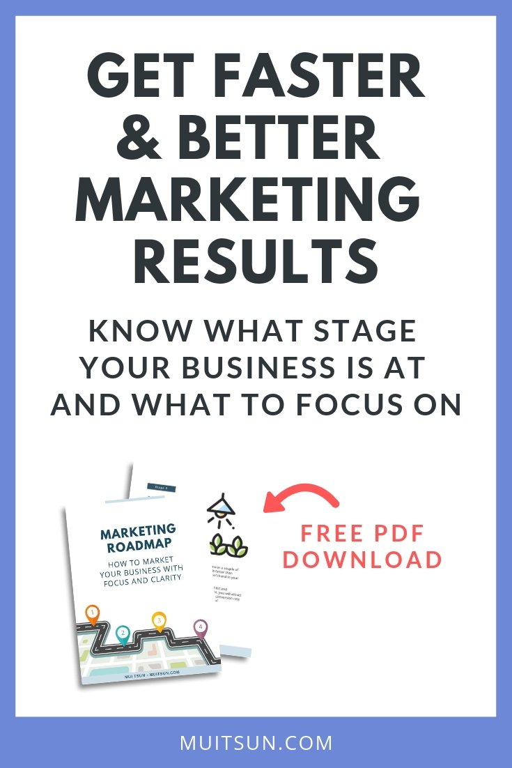 Marketing doesn't have to be complicated. Download this roadmap to find out exactly what to focus on at your particular stage of business.