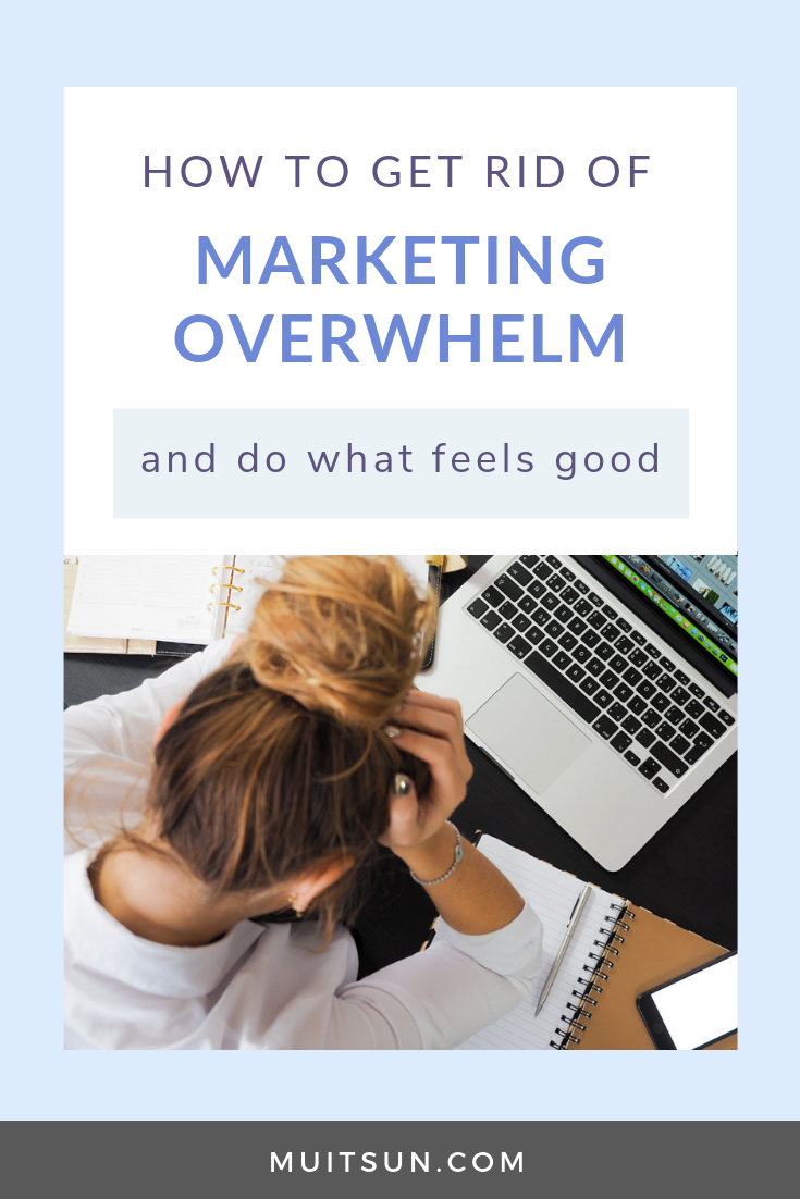 Watch the video to get the focus and clarity you need to get rid of that overwhelm and make marketing fun.
