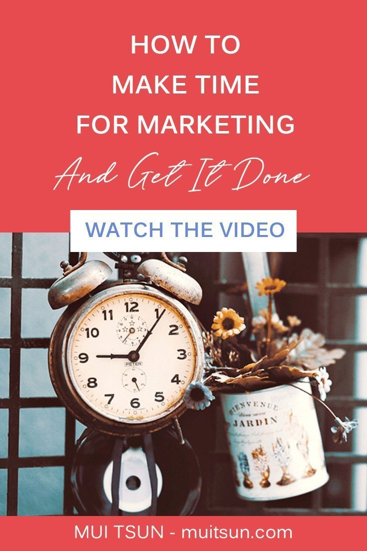 Knowing that you have to market yourself is the easy part. The difficult part is doing the marketing. Here's how to make time for marketing. Watch the video...
