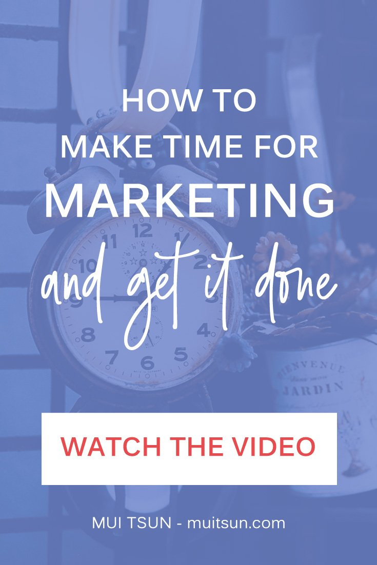 If you don't prioritise marketing, you'll find that it gets put off to the bottom of your to-do list. In this video, I'm going to show you how to make time for marketing and get it done.