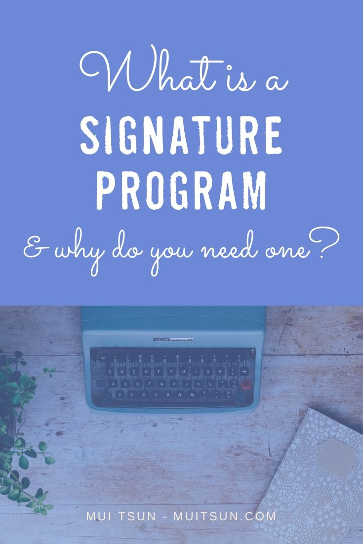 A signature program is a great way to build your business, whether you're a coach, a consultant or a service-based business owner. Here's a detailed breakdown on how a signature program can help grow your business...