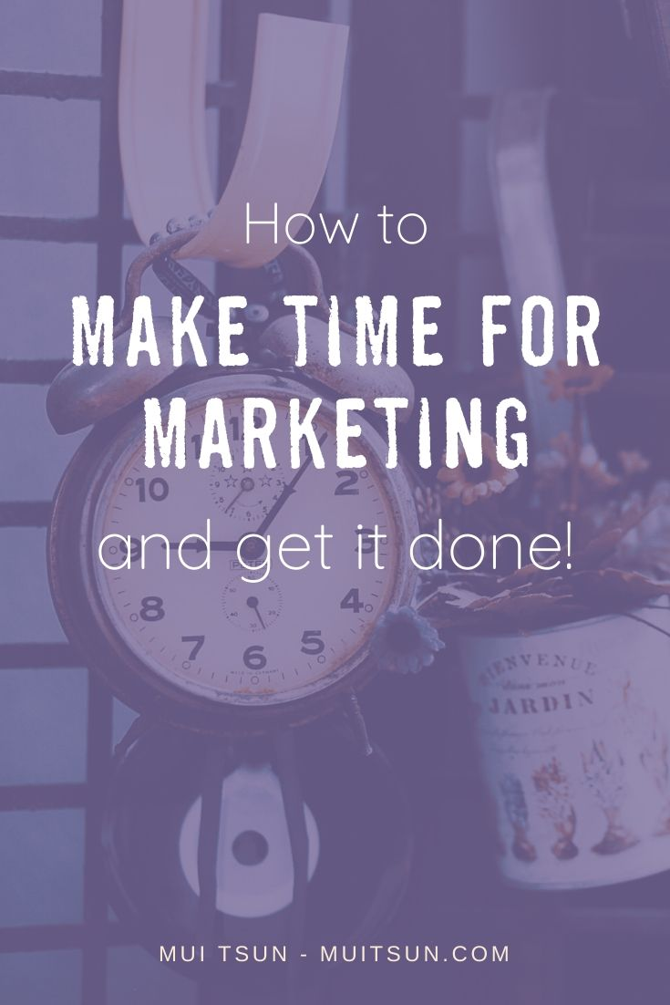 Knowing that you have to market yourself is the easy part. The difficult part is doing the marketing. Learn how to make time for marketing and get it done! #onlinemarketing