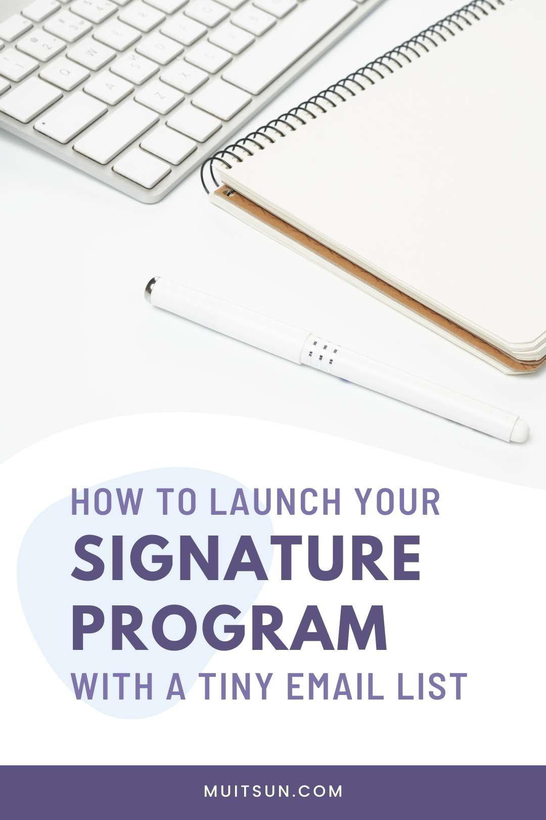 How To Launch Your Signature Program With A Tiny Email List