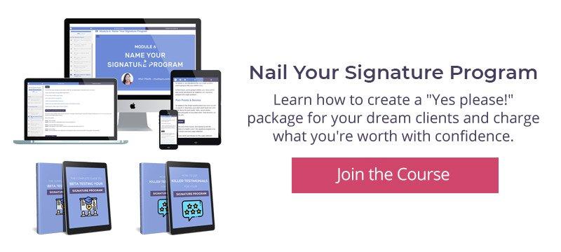 Nail Your Signature Program